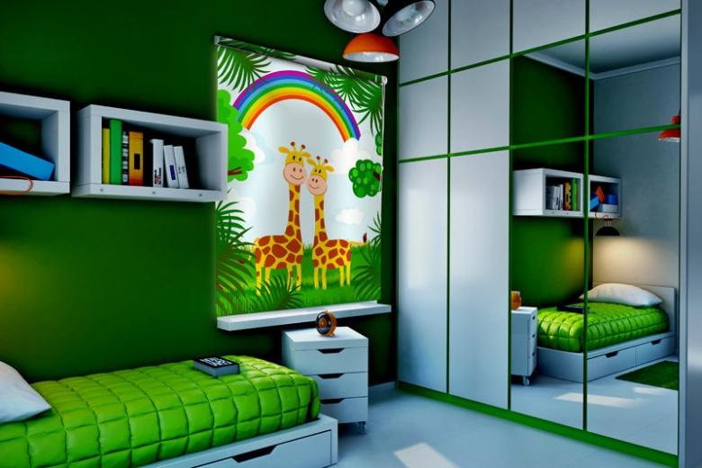 Жалюзи в детскую комнату с рисунком